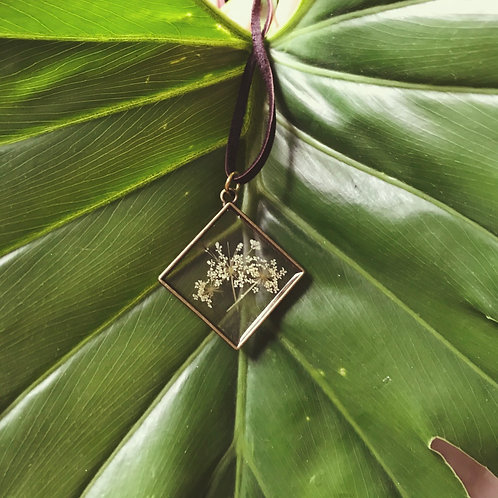 Wild Queen Anne's Lace Pendant