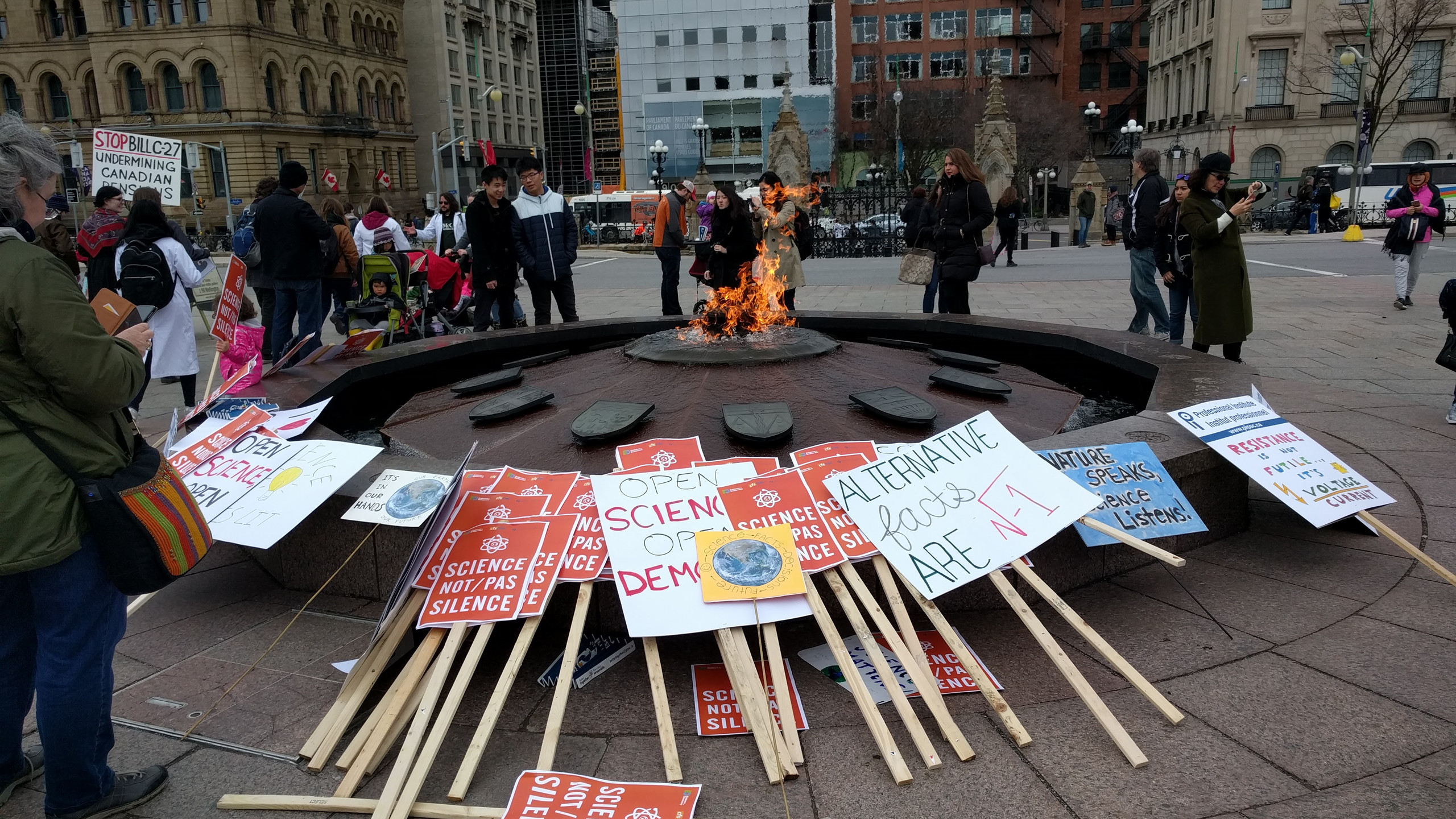 The Centennial Flame collected signs