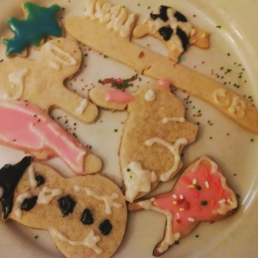 Cutouts with frosting