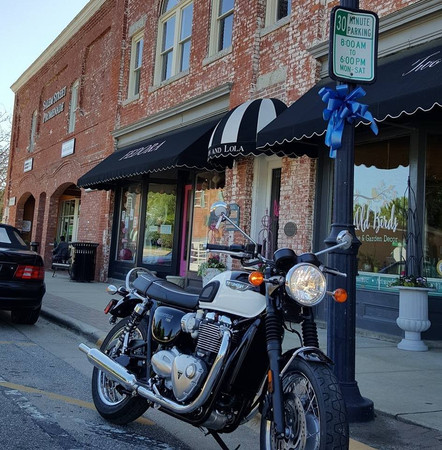 Triumph T100 shot I took downtown Apex, NC