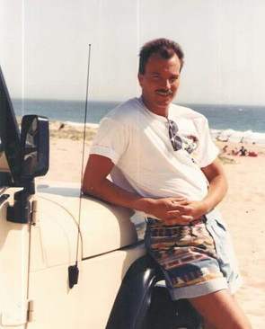 80's, me at Zuma beach and my Jeep