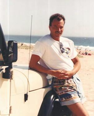 80's, me at Zuma beach and my Jeep