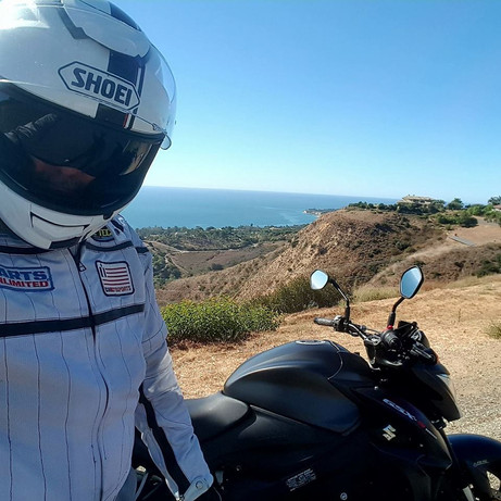 Malibu ride on the GSX1000R