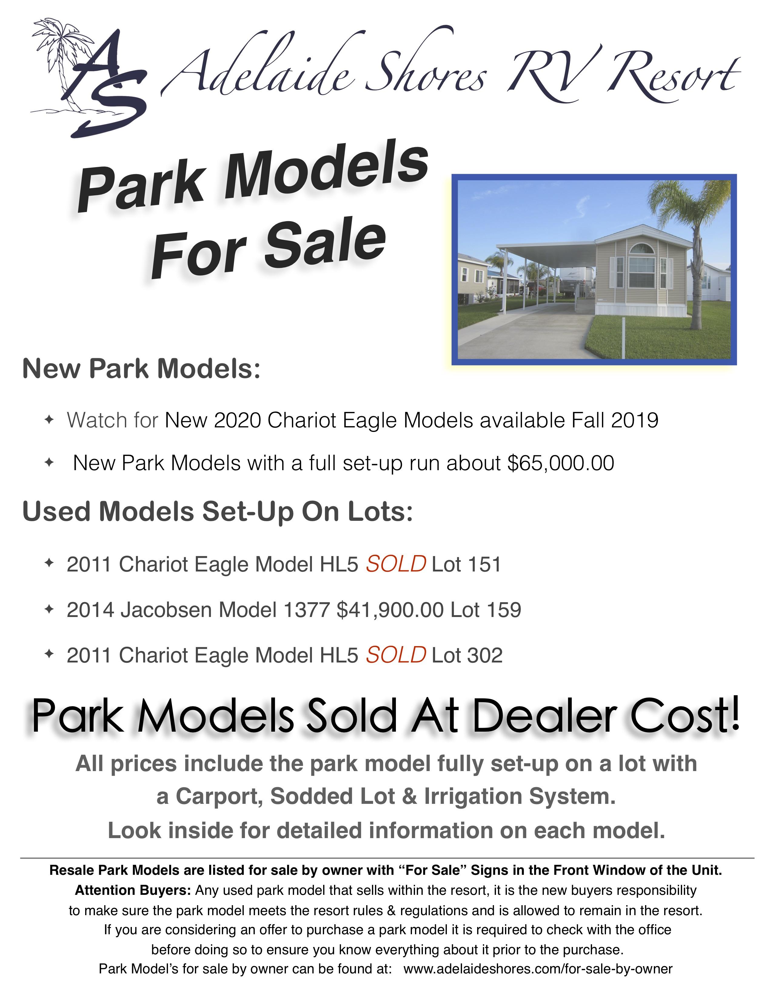 Park Models | Adelaide Shores RV Resort