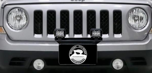 "2007 - 2017 Jeep Patriot MK Front 16"" Pod Light Mount Bracket"