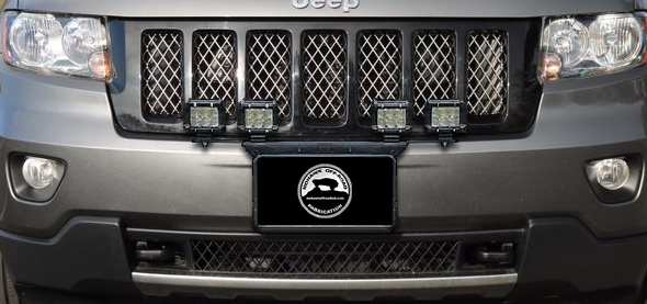 """2011 - 2013 Grand Cherokee 24"""" Front License Plate Pod Light Mount Brack"""