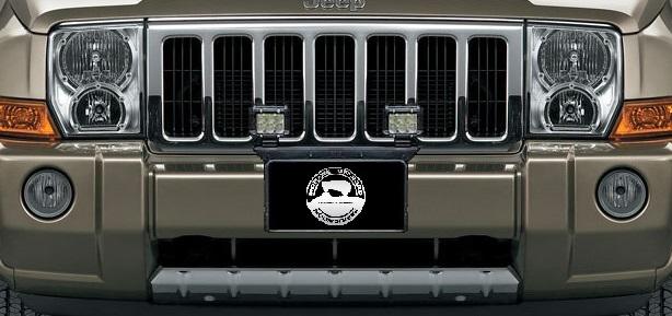 """2006 - 2010 Jeep Commander 16"""" Front License Plate Pod Light Mount Brack"""