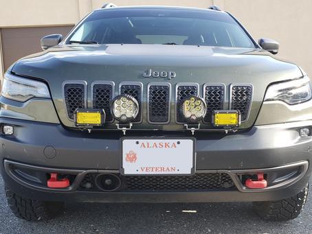 19 Cherokee KL with Pod Lights in Alaska!!!