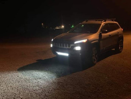 Light up the night with a Cherokee KL Trailhawk Lower Grille Light Bar Mounting Bracket