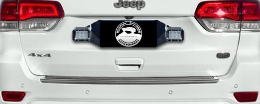 1993 - 2020 Jeep Grand Cherokee Rear Pod Light Mounting Bracket