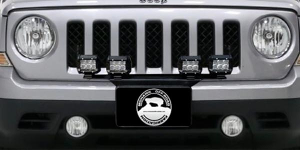 "2007 - 2017 Jeep Patriot MK Front 24"" Pod Light Mount Bracket"