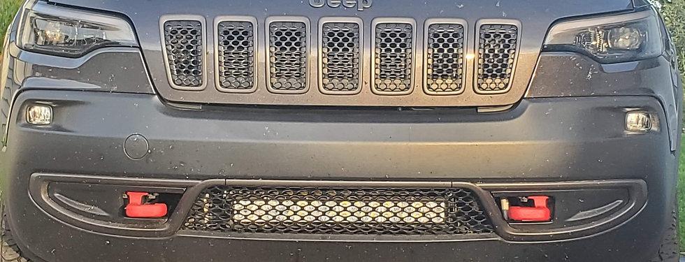 2019 - 2020 Jeep Cherokee KL Lower Grill Mounted Pod Light/ Light Bar Bracket