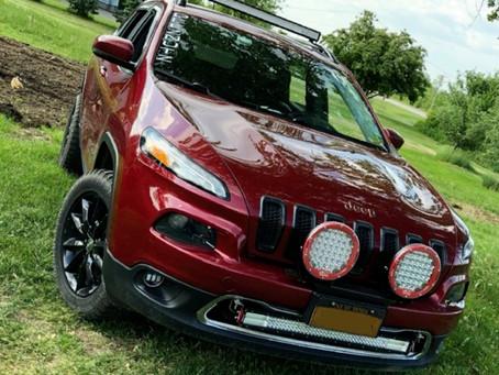 Big Round Pod Lights on Jeep Cherokee KL