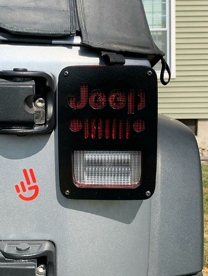 2007-2018 Jeep Wrangler JK Taillight Covers