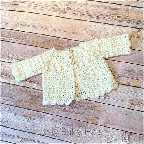 Scalloped edge crocheted cardigan