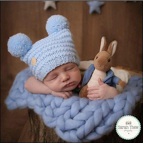 Baby Blue Double Pom Pom