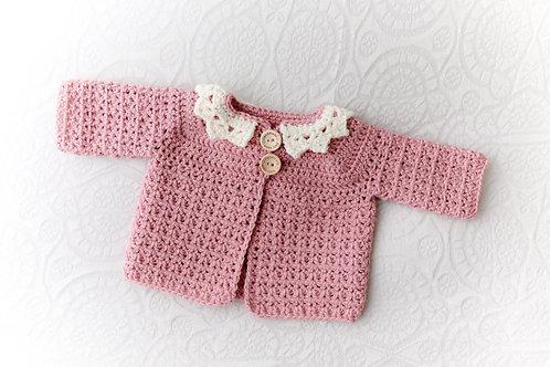 vintage style crochet cardigan