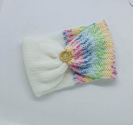 Rainbow white adult headband