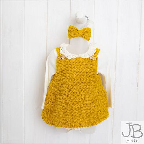 Mustard crocheted pinafore