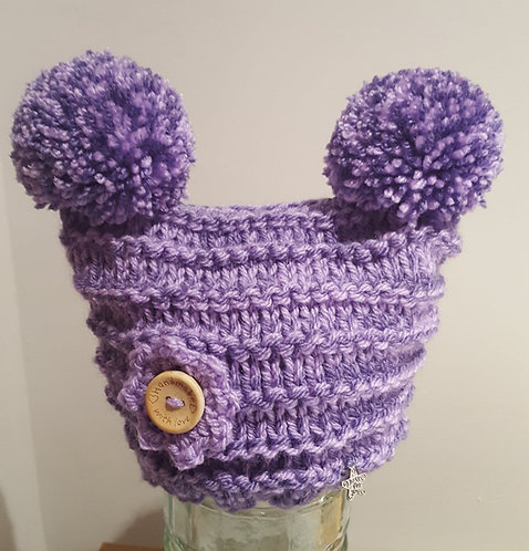 Lavender and Lilac Double Pom Pom