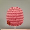 Dusky Pink Striped Beanie
