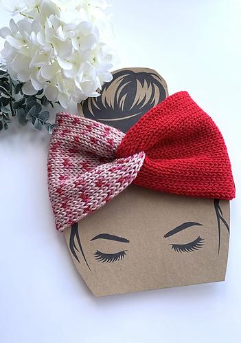 Twisted strawberry shortcake headband/earwarmer