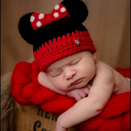 Red Minnie Mouse inspired hat