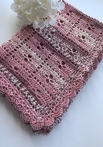 Dusky pink mix Call the  Midwife inspired blanket