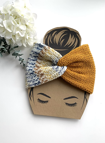 Adult headband in gold mix colours