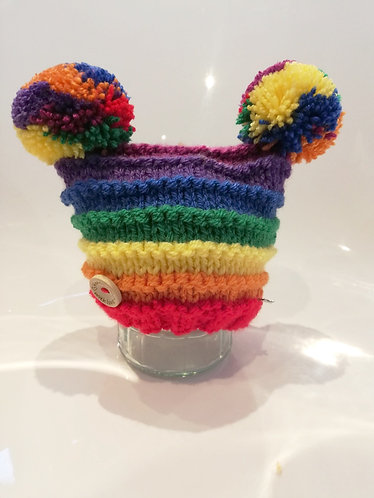 Rainbow brights  double pompom