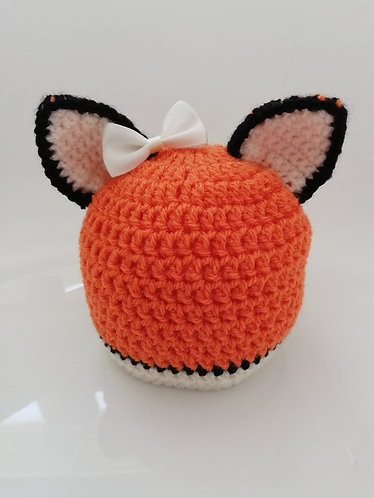 Fox style hat with bow