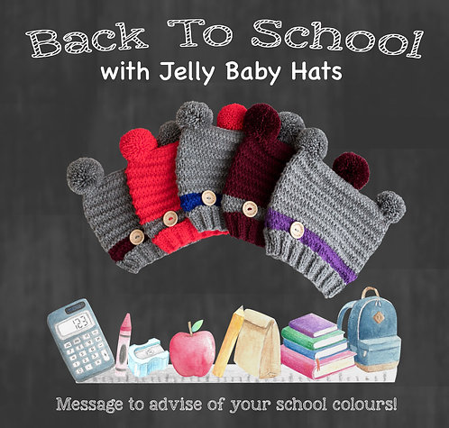 School uniform double pompom in your choice of colours