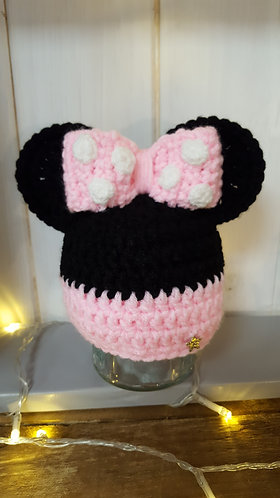 Pink Minnie Mouse inspired hat
