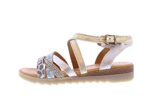 Kolanta sandaal - 0366-104-140_2V0018 goud-blauw