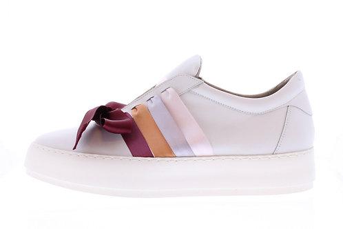 Vulcano sneaker - 9350-74-110 wit-bordeaux