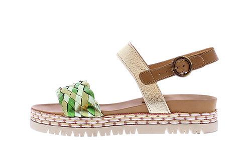 Cadice sandaal - 0363-101-139_2V0010 groen metallic
