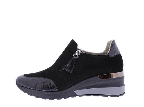 Angel sneaker - 9311-74-85_2V145 zwart croco