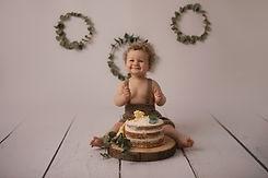 photographe smash cake, bébé, nouveau-né