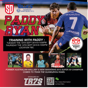 PADDY RYAN COMES TO THE ZHOU