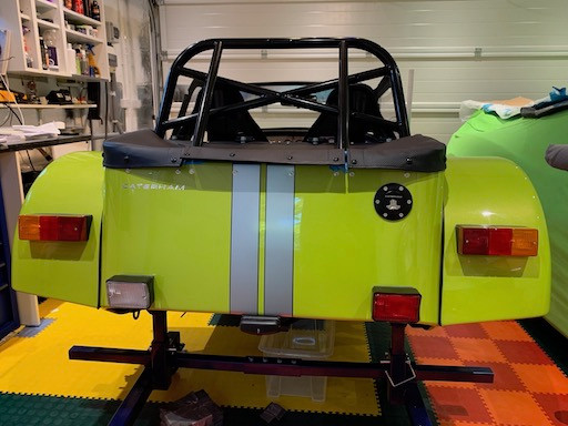 Caterham 7 Rear lights installed on both sides  build blog