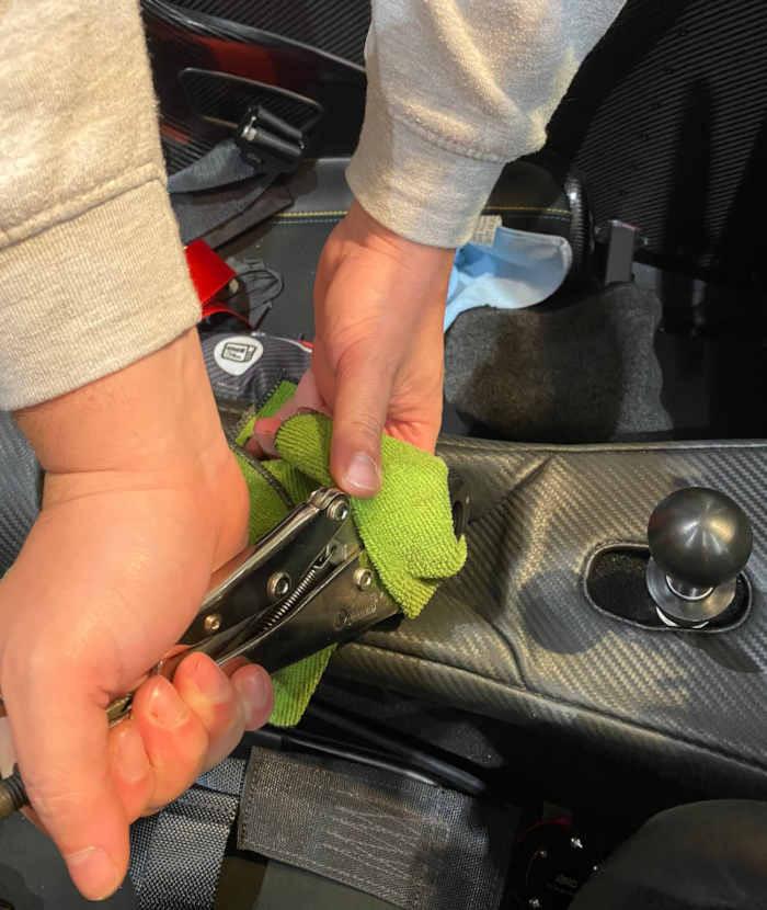 Caterham alloy handbrake install