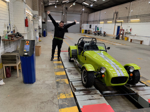 Caterham 7 Build Blog self-assembly IVA 420