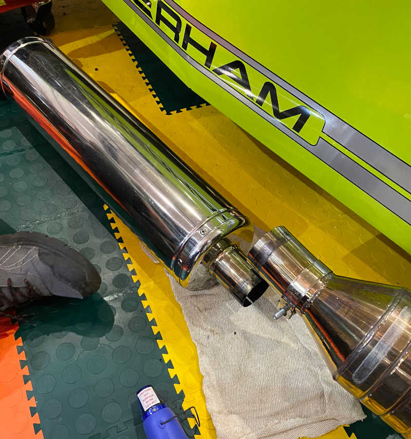 Caterham decat pipe