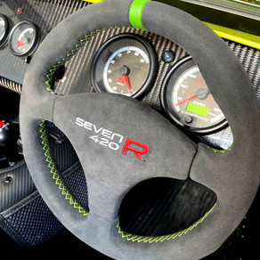 Caterham Seven 420R Steering Wheel Retrim
