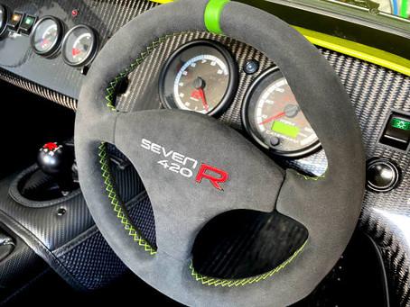 Caterham Seven 420R Steering Wheel Retrim