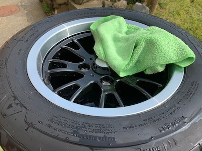 Caterham 7 blog self build alloy wheel cleaning