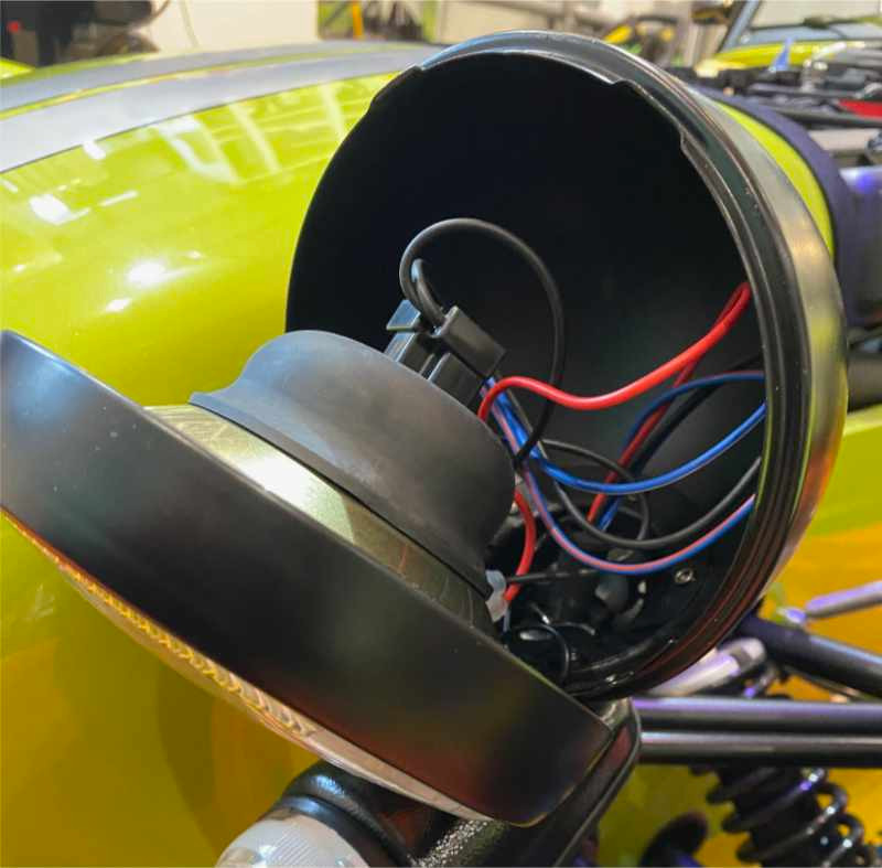 Caterham Seven front headlight bowl and ring.