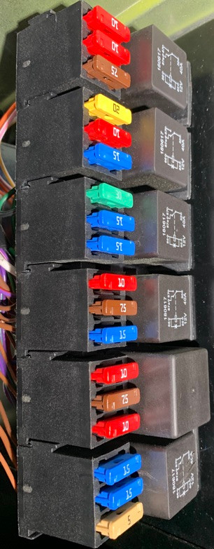 Caterham 7 Build blog fuse and relay box