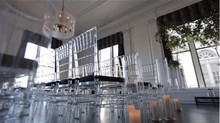 CRYSTAL LUCITE CHIAVARI CHAIR RENTAL SET-UP FOR YOUR EVENT