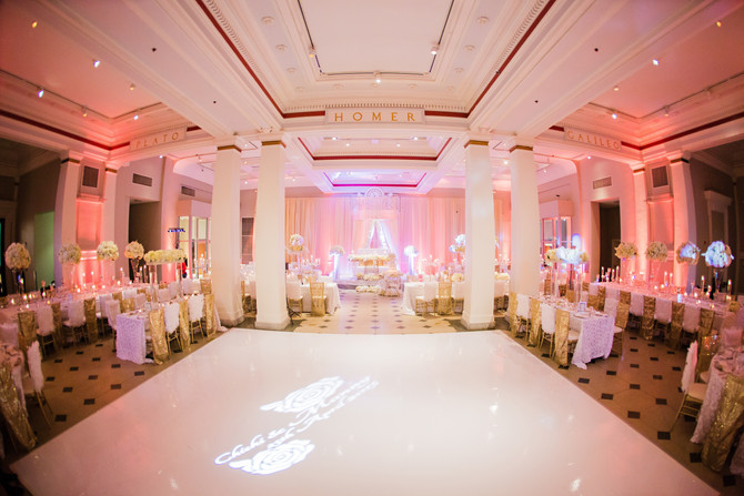White and gold wedding in DC
